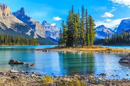 Spirit Island on Lake Maligne