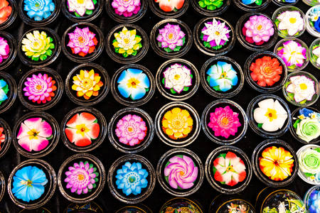 Thai soap flowers
