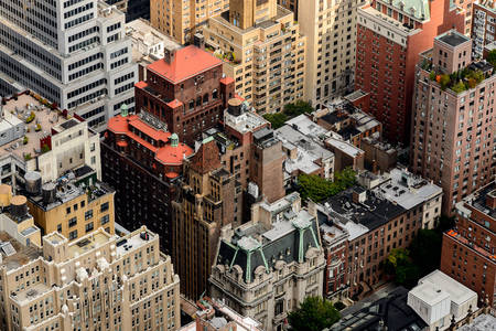 Aerial view of Manhattan architecture