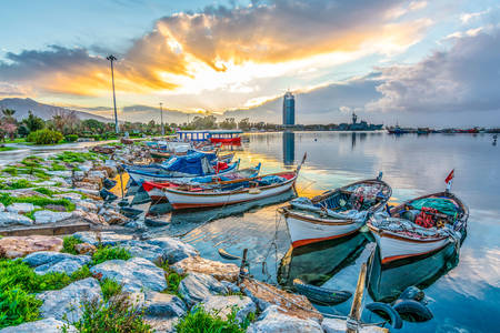 Fishing boats in Izmir