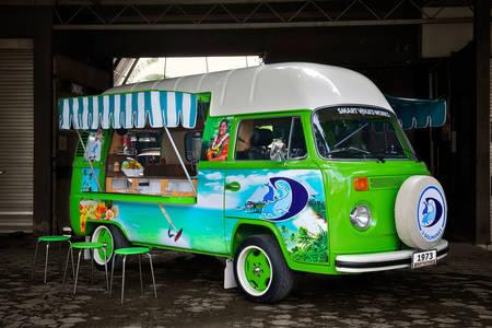 Bright food truck