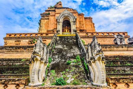 Wat Chedi Luang temple in Chiang Mai