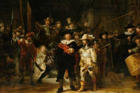 "Rembrandt: ""Militiecompagnie van District II onder bevel"""