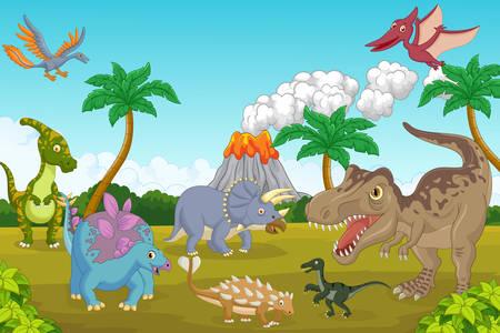 Δεινόσαυροι στο ηφαίστειο