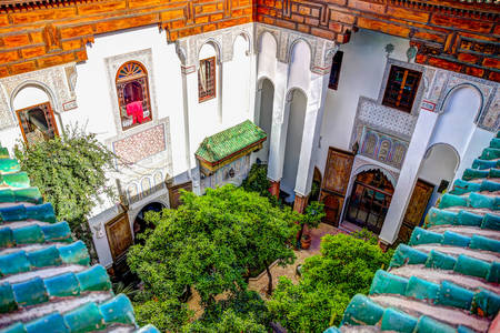 Fes courtyard view