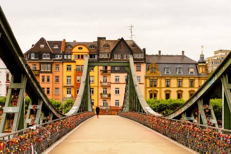 IJzeren brug in Frankfurt