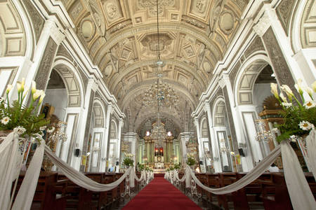 Wedding interior in the church of San Agustin