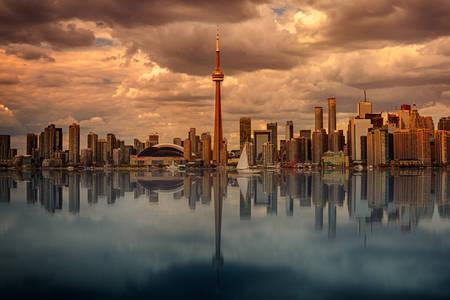 Dawn in Toronto