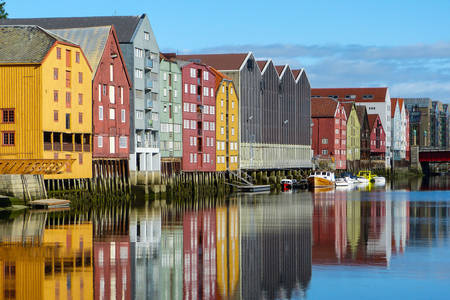Trondheim colorful houses architecture