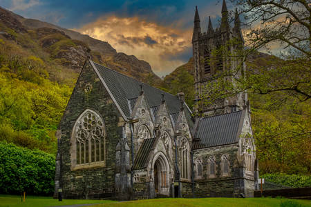Kathedrale in der Kylemore Abbey