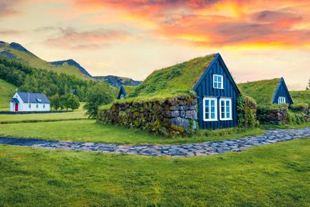 Casas tradicionais da Islândia