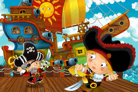Pirates by the ship