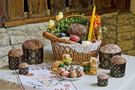 Ukrainian Easter table