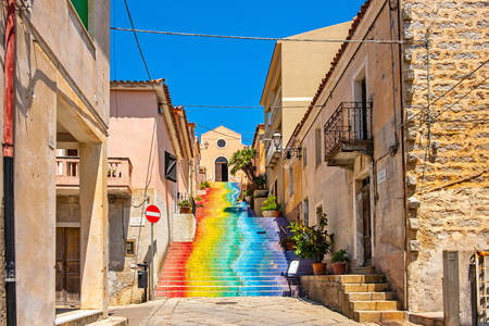Rainbow Staircase to Saint Lucia Church