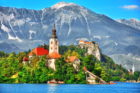 Church of the Assumption of the Virgin Mary on Lake Bled