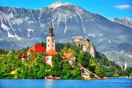 Chiesa dell'Assunzione della Vergine Maria sul lago di Bled