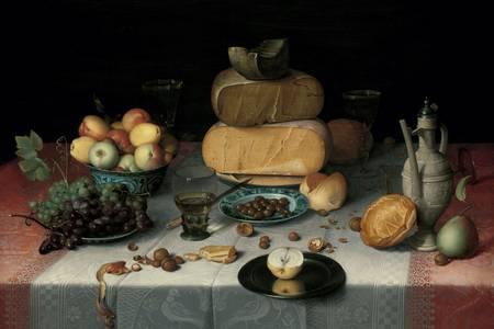 """Floris van Dyck: """"Stilleven met kaas"""""""