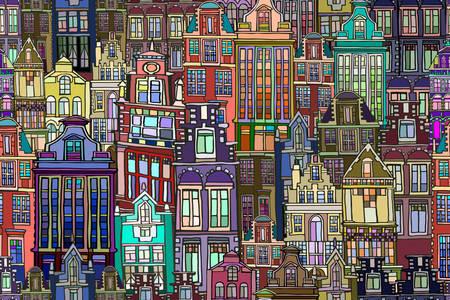 Боядисани къщи в холандски стил