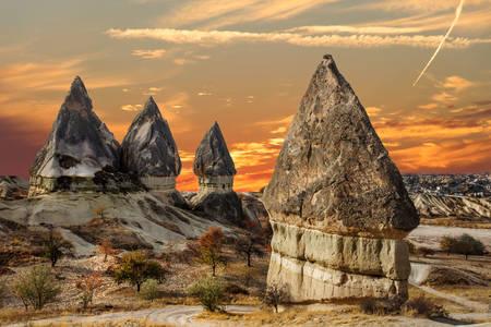 Kapadokya Vadisi'nin görünümü