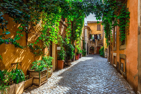 Stará ulice v Trastevere