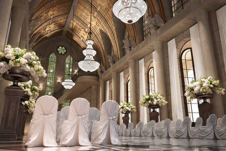 Katedralde düğün iç