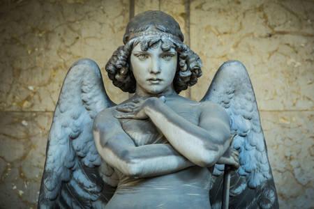 "Statue ""Angel of the Resurrection"" in Genoa"