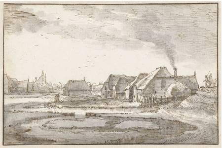 """Claes Jansz. Visscher (II): """"Spaarndammerdijk bij de Braakjes"""""""