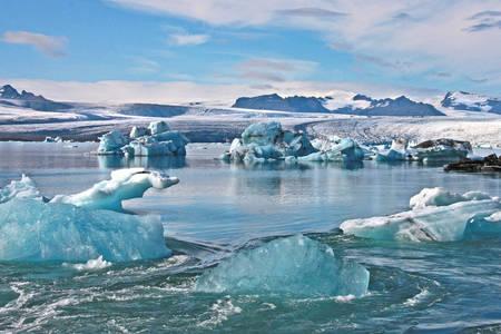 Blauwe ijsbergen