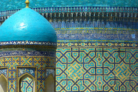 Mosaics on the walls of the madrasah