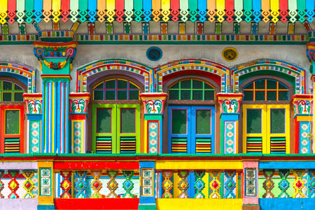 Facade of a building in Little India