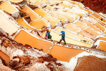 Salt terraces of Salinas de Maras