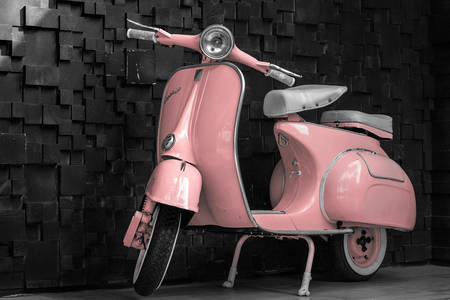 Roze scooter