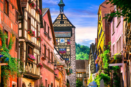 The picturesque commune of Riquewihr