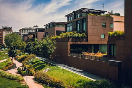 Модерни къщи в Милано