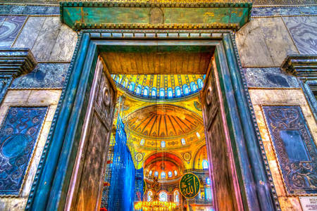 Entrance to Hagia Sophia