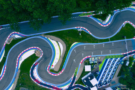 Top view of the go-kart road