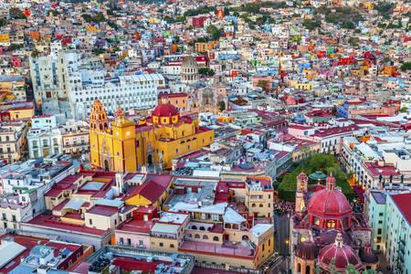 Θέα στην πόλη Guanajuato