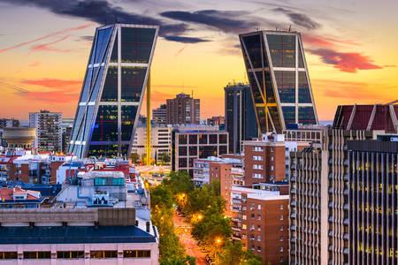Madrid finans bölgesi