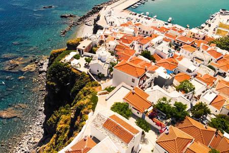 Skopelos houses view