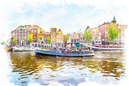 Amsterdam manzaraları