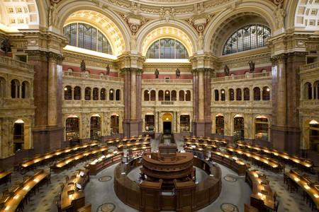 Salle de lecture de la Bibliothèque du Congrès