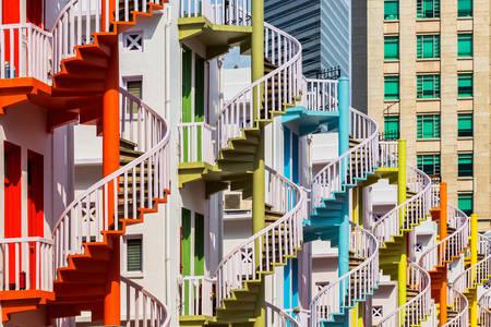 Spiralne schody Singapuru