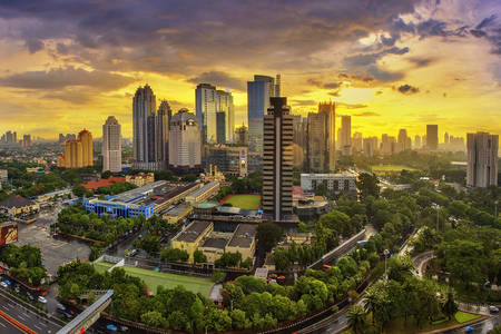 Jakarta - de hoofdstad van Indonesië