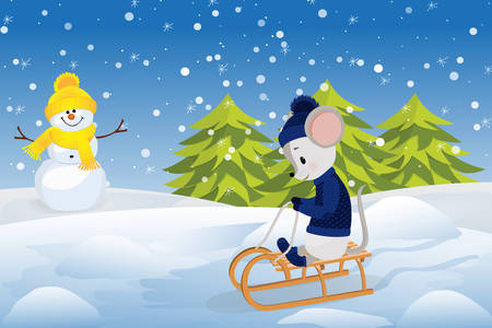 Mouse on a sled