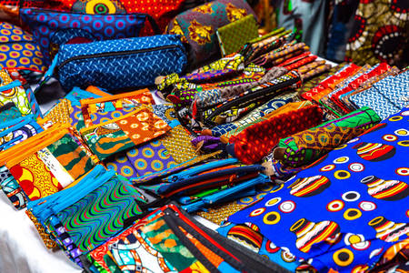 Colorful African wallets