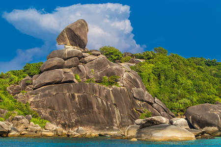 "Rock ""Sail"" on Similan Island"