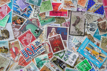 World postage stamps