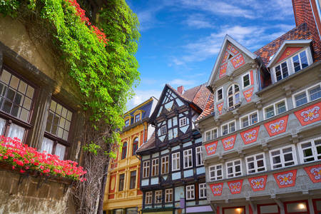 House facades in Quedlinburg