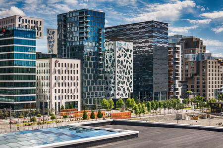 Architecture of buildings in Oslo