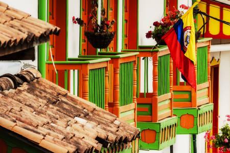 Kolorowe domy na ulicach Salento